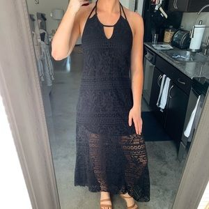 FREE PEOPLE backless high low maxi dress (m)